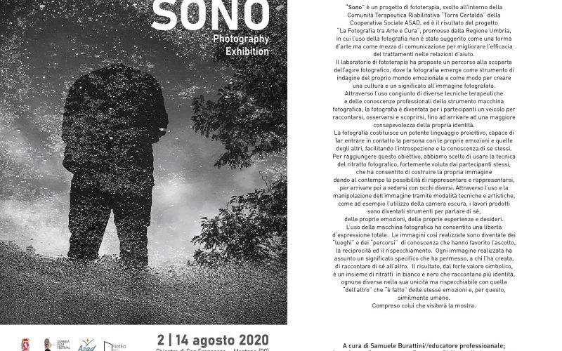 """ARTE & CURA, AL CHIOSTRO DI SAN FRANCESCO LE FOTOGRAFIE DEL PROGETTO """"SONO"""""""
