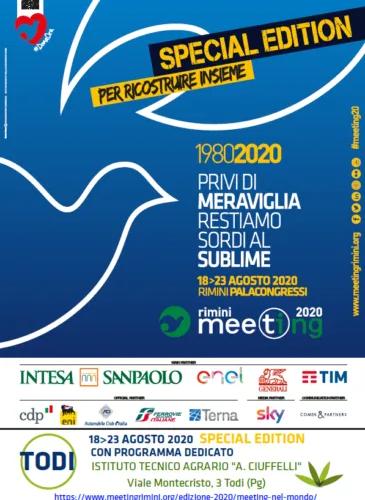 MEETING DI RIMINI 2020 IN COLLEGAMENTO CON TODI. RIFLESSIONI SUL POST-CORONAVIRUS IN ITALIA E IN EUROPA