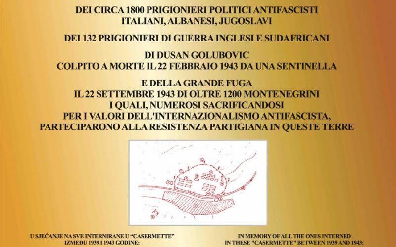 """MANIFESTAZIONE IN MEMORIA DI TUTTI GLI INTERNATI ALLE """"CASERMETTE"""" DI COLFIORITO"""