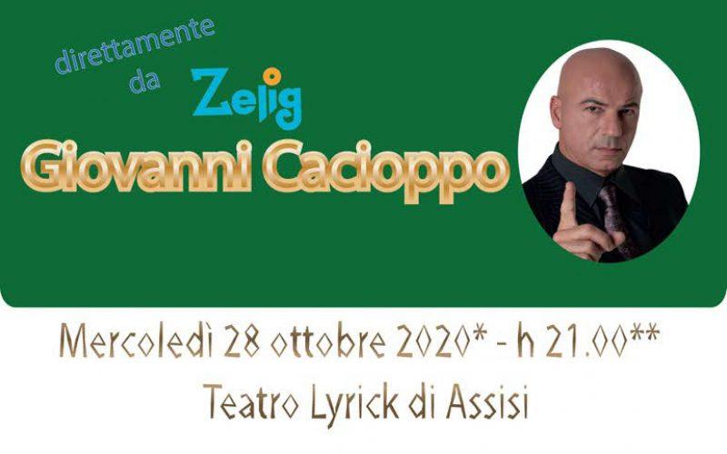 """SERATA SOLIDALE PER PAZIENTI ONCOLOGICI, """"FONDAZIONE ANT ITALIA"""" PREVEDE SPETTACOLO COMICO ZELIG 28 OTTOBRE 2020"""