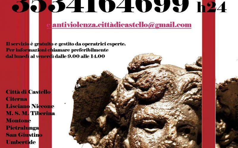 UN CENTRO ANTIVIOLENZA PER L'ALTOTEVERE – NUMERO 353/4164699 ATTIVO H 24, PRESTO ANCHE L'APERTURA DI UNA CASA RIFUGIO