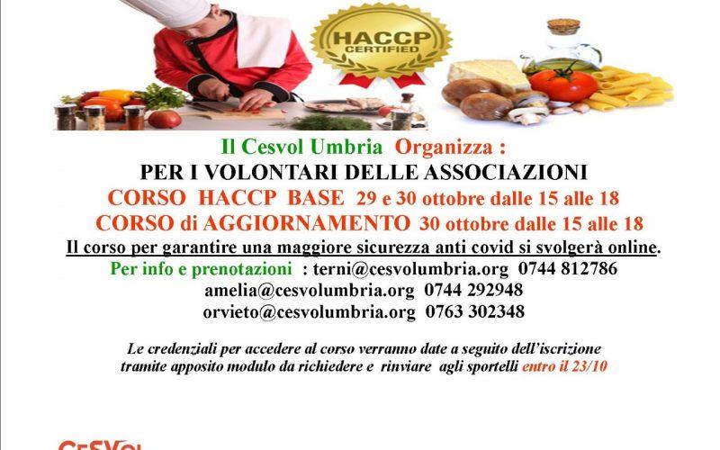 Terni, Via alle iscrizioni ai corsi Haccp del Cesvol: Per i volontari lezioni online per la sicurezza anticovid