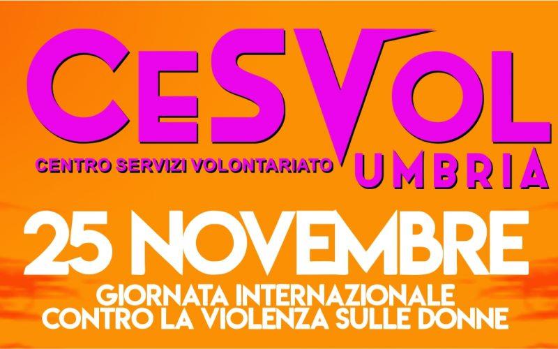 Il 25 novembre il Cesvol Umbria modifica per un giorno il proprio logo…