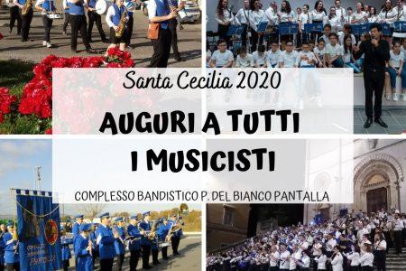 """Complesso Bandistico """"Pasquale Del Bianco"""" di Pantalla , ricorrenza 2020 più forte del Covid. Ben 110 anni di attività musicale. Un compleanno che omaggia Santa Cecilia."""