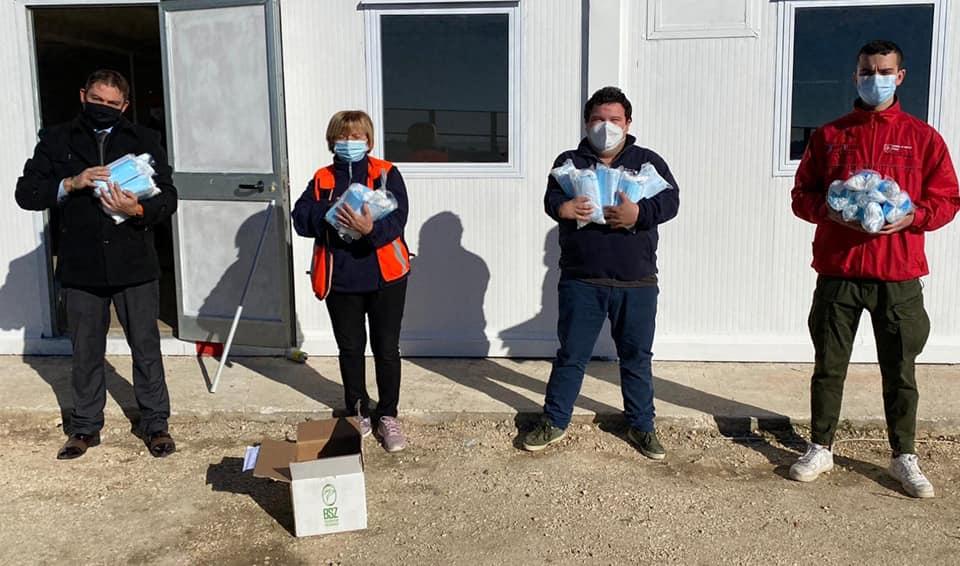 Cisom Terni Amelia in campo per l'emergenza: I volontari ricevono in dono mille mascherine