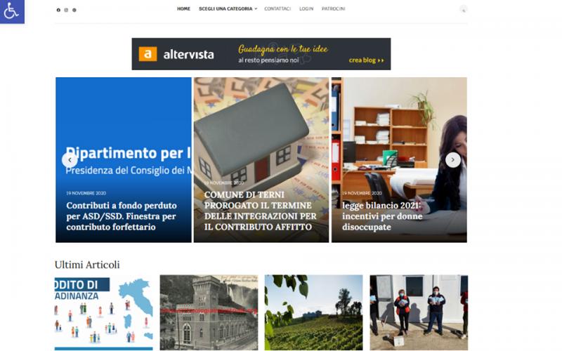 """A Terni via al progetto """"People answer"""", sito accessibile ai non vedenti: Consulenze legali e fiscali gratuite ma anche volontariato e disabilità"""