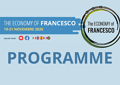 Diretta streaming causa Covid. Inizia The Economy of Francesco, con giovani economisti e imprenditori a livello globale. Partecipazione di Papa Francesco, per un'economia globale più sostenibile