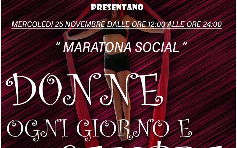 """Maratona social """"Donne Ogni Giorno E Per Sempre"""". Live facebook dedicato alla Giornata internazionale contro la violenza sulle donne"""