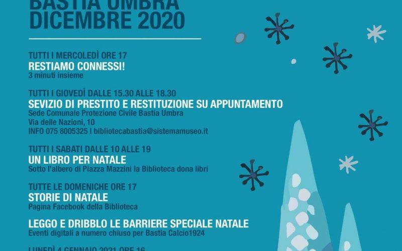 """Biblioteca Comunale Bastia Umbra, """"A Natale Accendiamo La Biblioteca"""", periodo Covid: letture online, dirette facebook, prestito libri"""