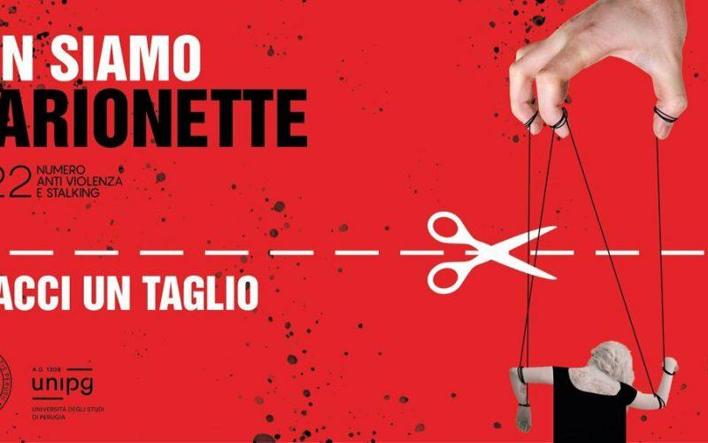"""Università di Perugia contro la violenza di genere. Campagna di sensibilizzazione nata da """"Gesti che non feriscono"""": #dacciuntaglio #nonsiamomarionette"""