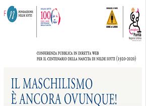 """""""IL MASCHILISMO È ANCORA OVUNQUE!"""": VENERDÌ 15 GENNAIO INIZIATIVA PUBBLICA DELLA CONSIGLIERA DI PARITÀ DELLA REGIONE UMBRIA"""