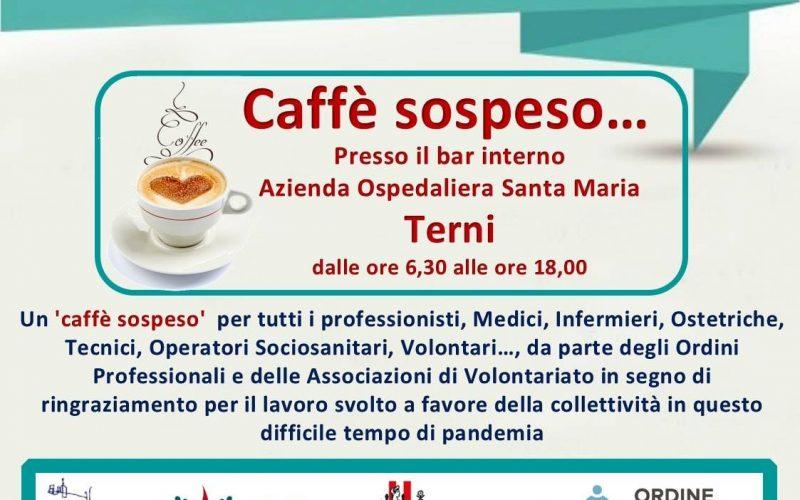 Terni, Un caffè sospeso per dire grazie ai professionisti della sanità e ai volontari