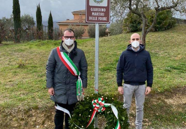 """GIANO DELL'UMBRIA – INAUGURAZIONE """"GIARDINO MARTIRI DELLE FOIBE"""""""