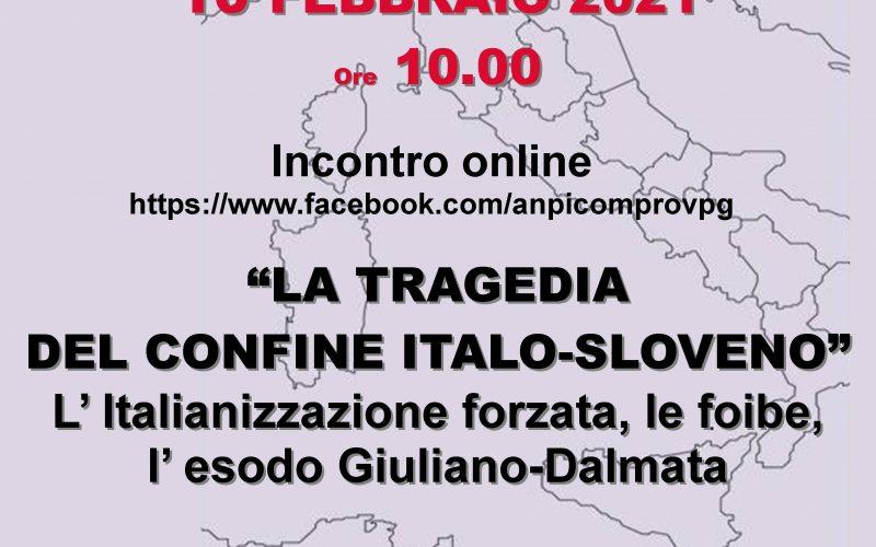 """INCONTRO ONLINE """"LA TRAGEDIA DEL CONFINE ITALO-SLOVENO"""""""