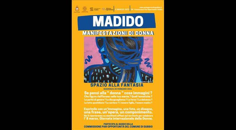 """ARRIVA """"MADIDO"""", CONCORSO DI IDEE PROMOSSO DALLA COMMISSIONE PARI OPPORTUNITÀ DEL COMUNE DI GUBBIO PER RACCONTARE LE DONNE"""