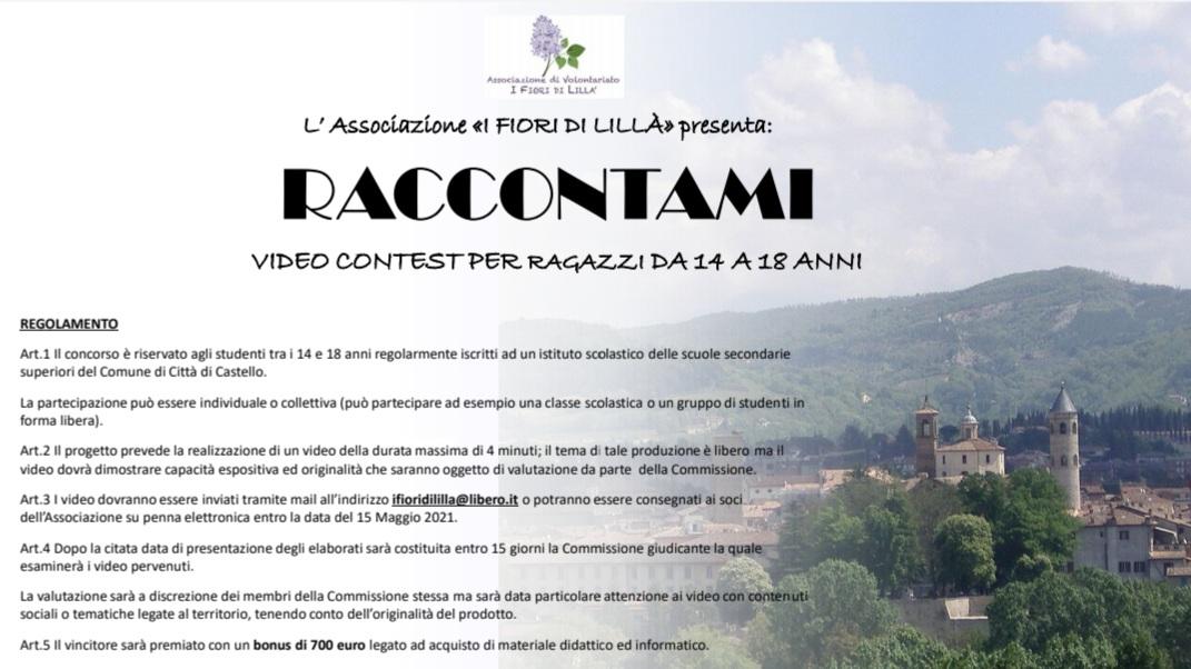 "VIDEO CONTEST ""RACCONTAMI"", SCADENZA POSTICIPATA AL 10 GIUGNO"