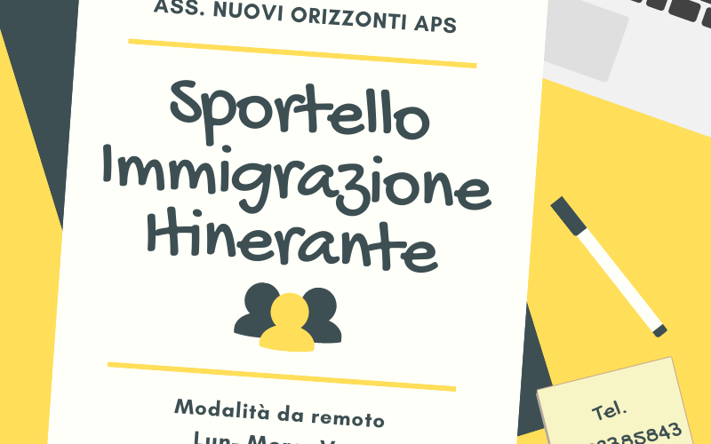 Associazione Nuovi Orizzonti: Via allo Sportello immigrazione itinerante