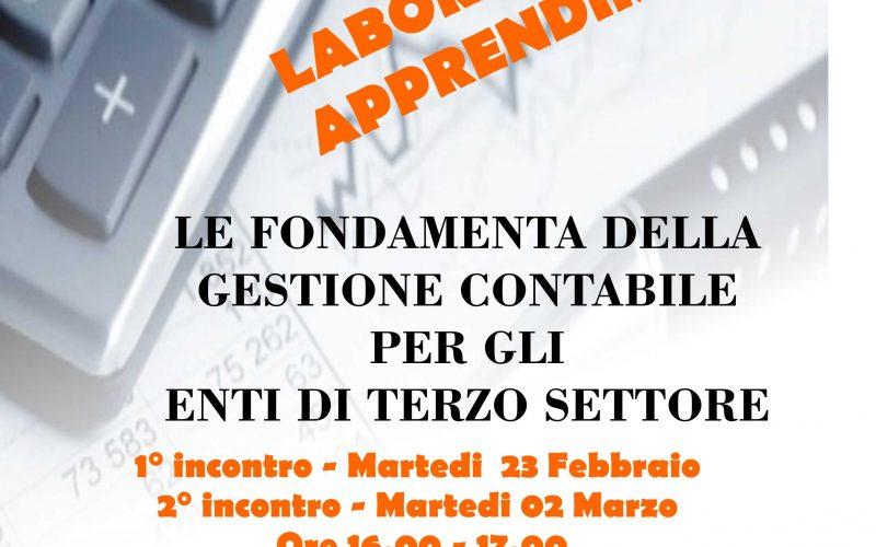 Le fondamenta della Gestione contabile, ancora posti liberi per l'appuntamento del 2 marzo p.v.