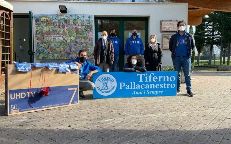 """INIZIATIVA BENEFICA DELLA TIFERNO PALLACANESTRO NEI CONFRONTI DELLA CASA DI RIPOSO """"MUZI BETTI"""""""