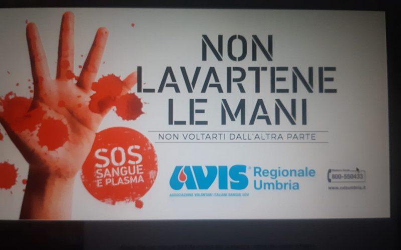 """""""Non lavartene le mani"""": Avis regionale Umbria lancia la campagna sociale per reperire donatori"""