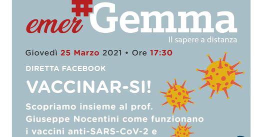 PROGETTO #GEMMA – NUOVO APPUNTAMENTO DEDICATO AI VACCINI ANTI-SARS-COV-2