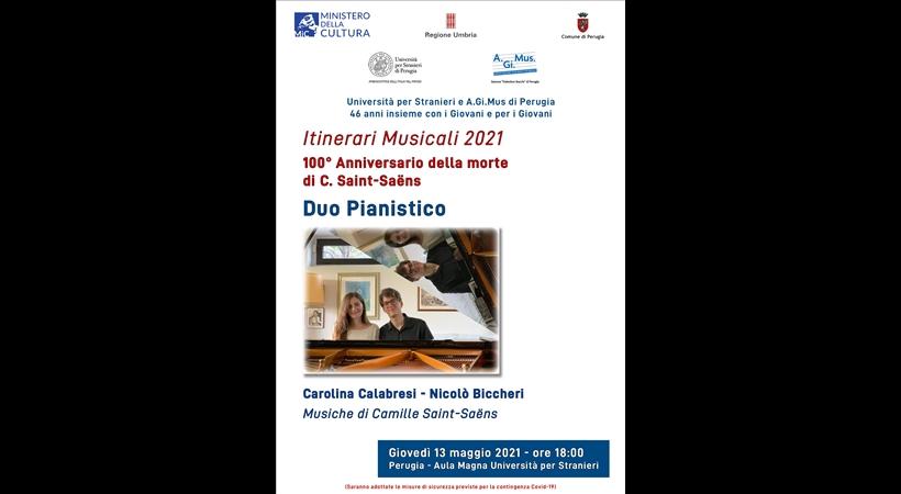 """""""ITINERARI MUSICALI 2021"""" – CONCERTO DUO PIANISTICO"""