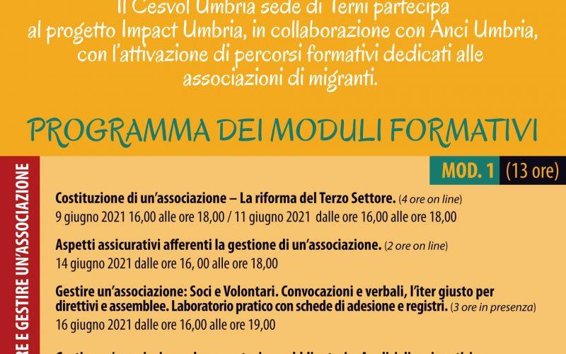 Via al percorso formativo di Cesvol Umbria e Anci  rivolto alle associazioni di migranti  e a cittadini stranieri che vogliono costituire un'associazione