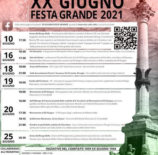 """""""XX GIUGNO FESTA GRANDE 2021"""""""