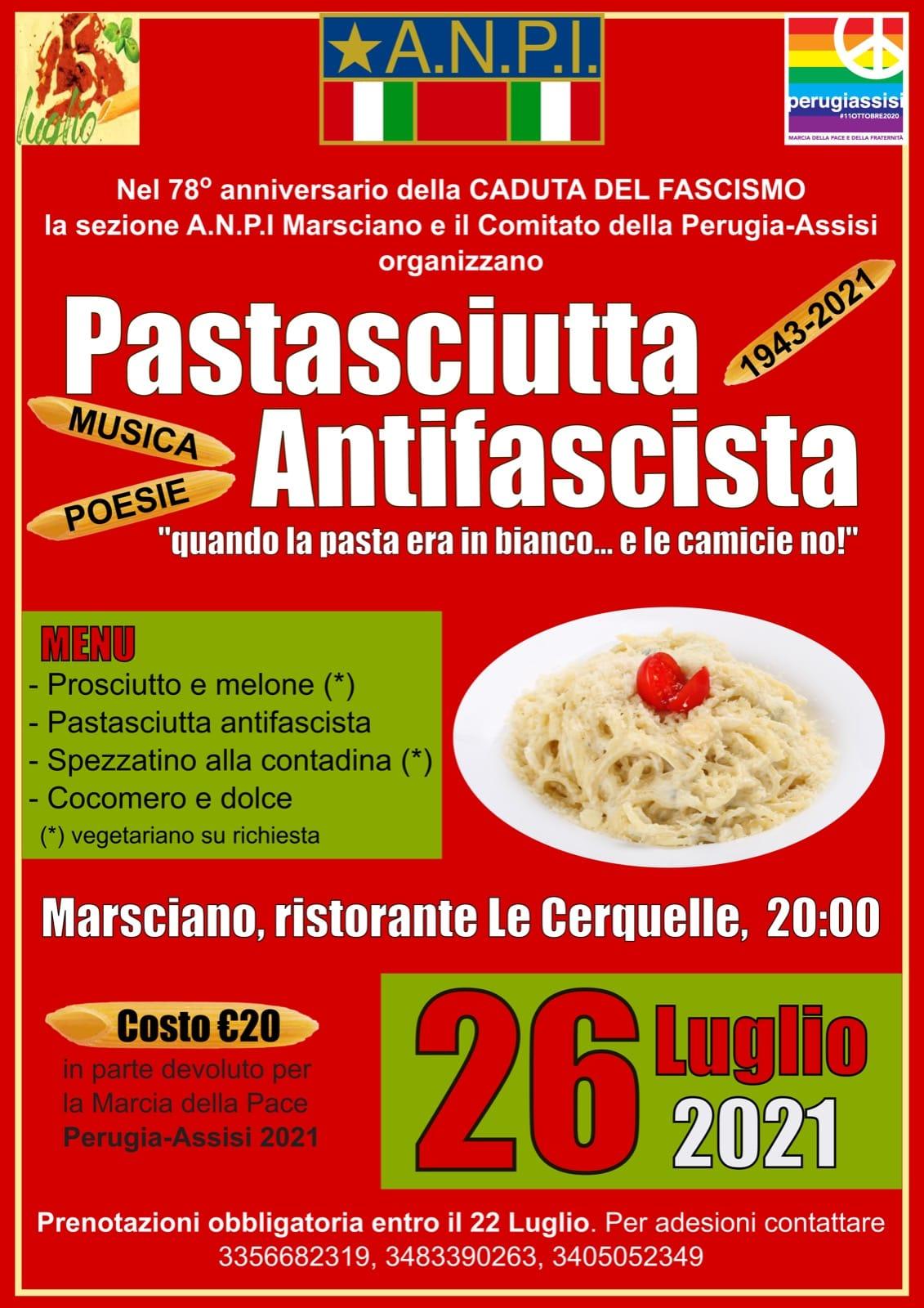 """PASTASCIUTTA ANTIFASCISTA"" A MARSCIANO"