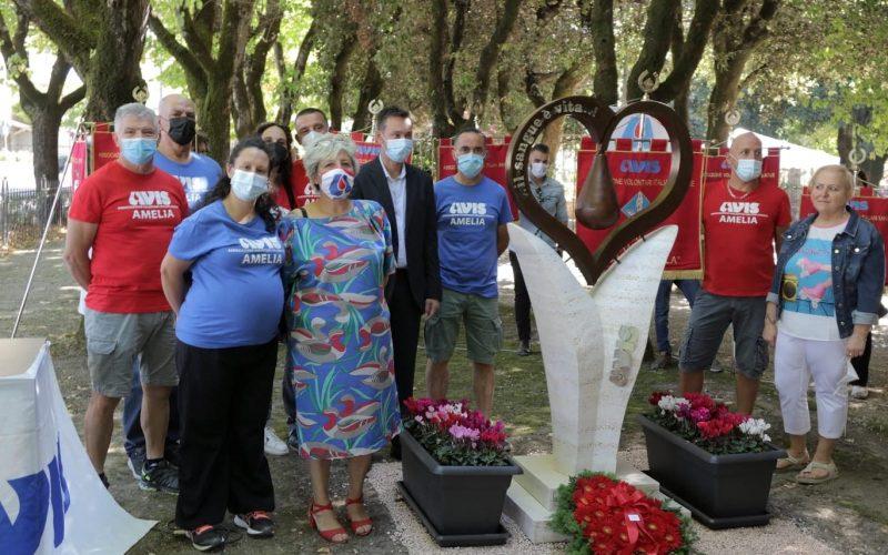 Avis Amelia compie 50 anni: Inaugurato il monumento dedicato ai donatori