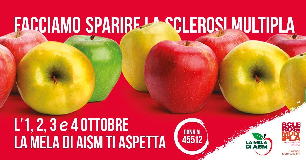 """Anche a Terni """"La mela di Aism"""" per sostenere la lotta alla sclerosi multipla"""