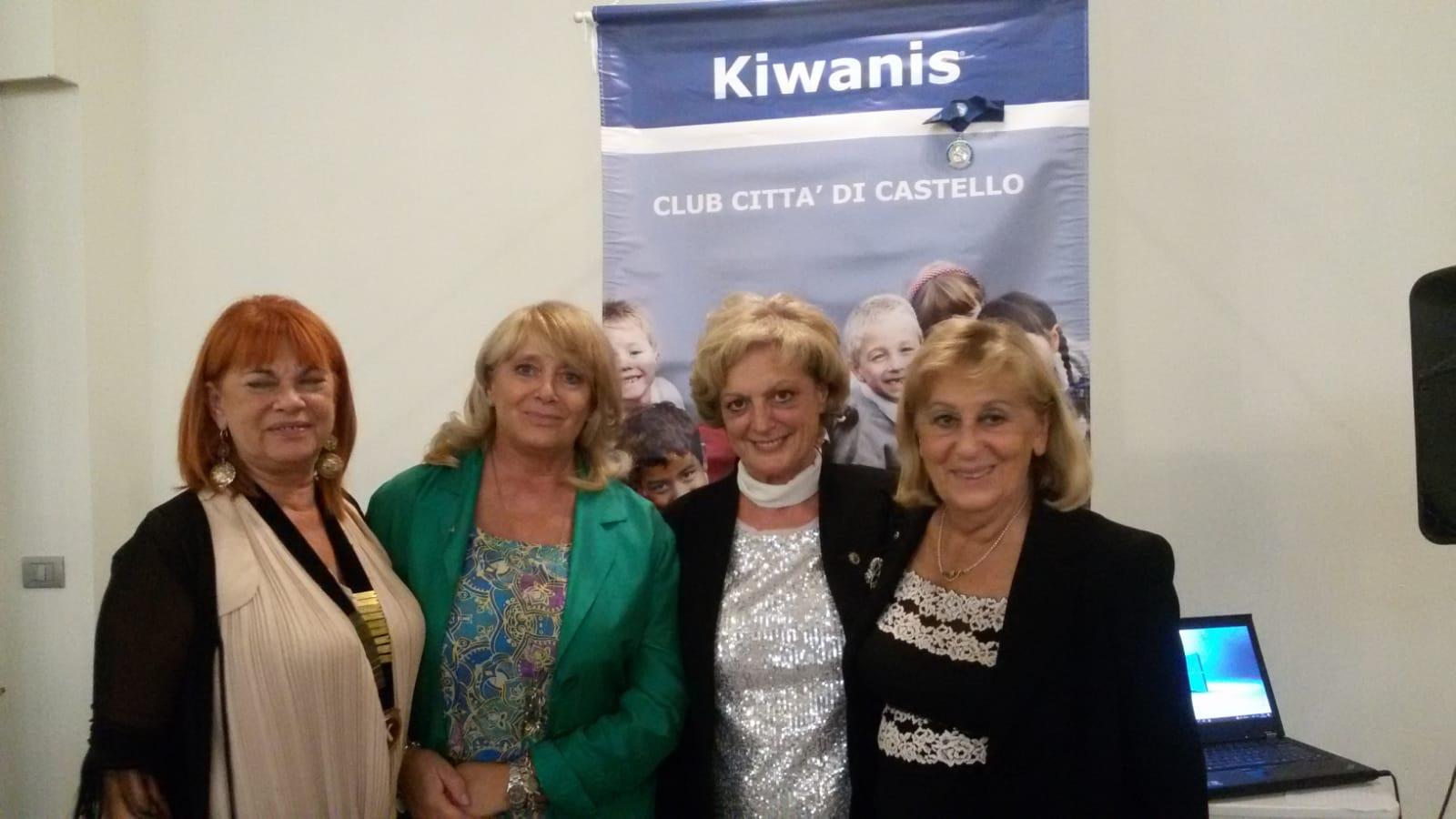 NADIA CARLINI NUOVA PRESIDENTE DEL KIWANIS CLUB CITTÀ DI CASTELLO ODV