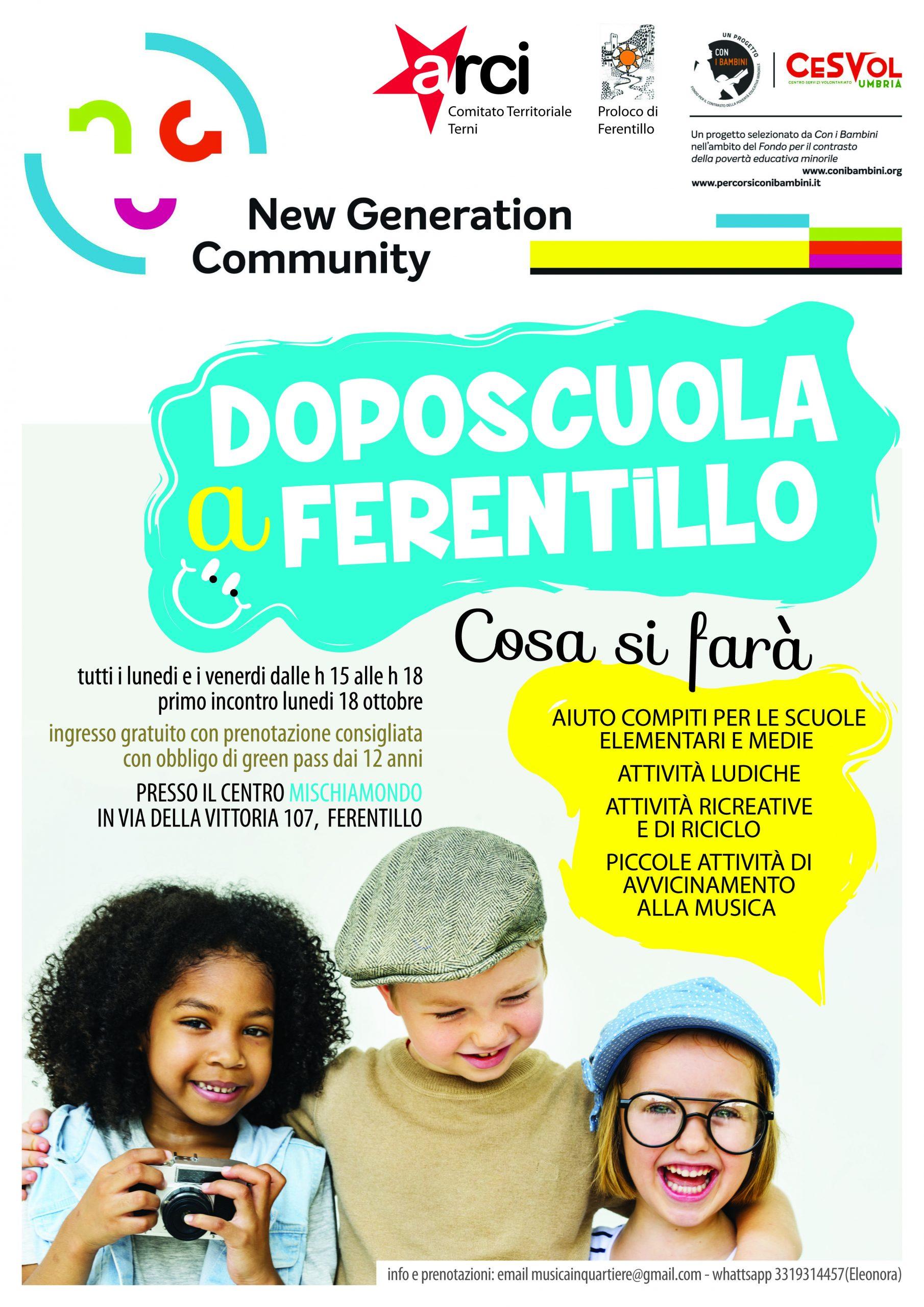 """""""Doposcuola a Ferentillo"""": Via ai laboratori gratuiti dell'Arci per contrastare la povertà educativa dei minori"""