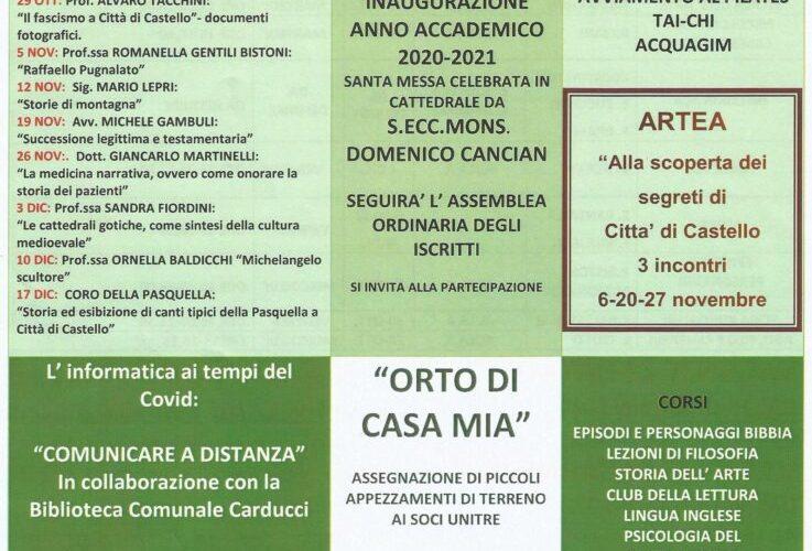 UNITRE CITTA' DI CASTELLO, RIPARTE L'ATTIVITA'